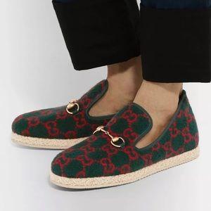 Gucci Fria Horsebit GG Wool Shearling Men Loafers